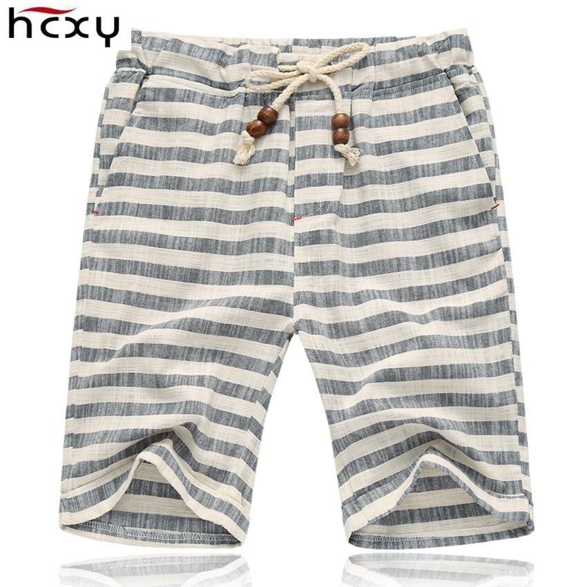 top quality Summer style shorts men 2016 cotton Mens shorts five casual shorts tide male cotton beach linen shorts 1
