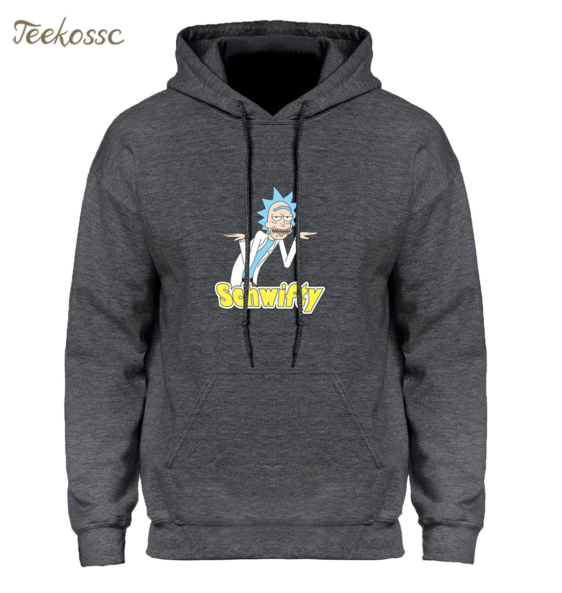 Schwifty Men Hoodie Rick And Morty Funny Homens Hoodies Sweatshirt Mens 2018 New Winter Autumn Hooded Casual Cartoon Rick Hoody