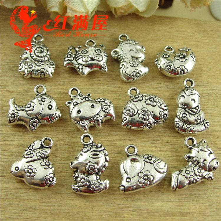 Teddy Bear Charm//Pendant Tibetan Antique Silver 19mm  12 Charms Accessory Crafts