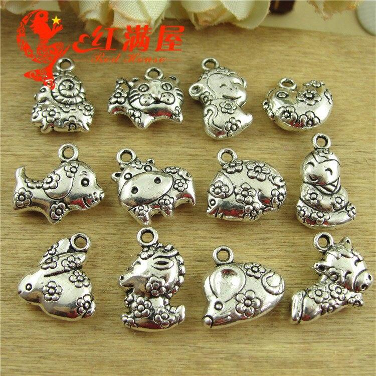 6  Breastplate charms tibetan silver SW44