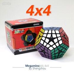 Shengshou 4x4 Megaminxed Cubo 4x4x4 Master Kilominx Nero Velocità Cube Cubo Magico Giocattolo Educativo cubi di Puzzle