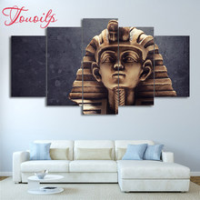 DIY Full Square&round 5pcs Egyptian Pharaohs Statue Diamond Painting Combination diamond Embroidery Mosaic Home Decor painting(China)