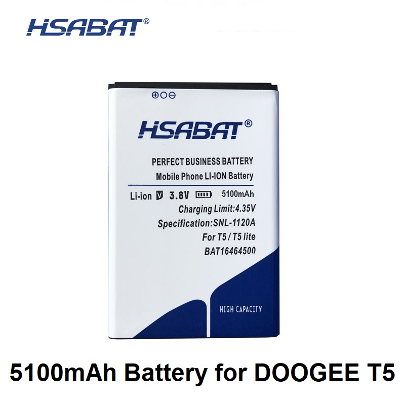 HSABAT 5100mAh BAT16464500 Battery For DOOGEE T5 / T5 Lite