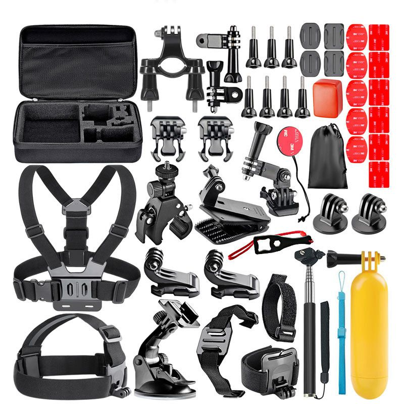 Gopro Accessories kit for go pro hero 7 6 5 4 3 xiaomi yi 4k action camera 44 in 1 sport accessory gopro case Chest Strap tripod