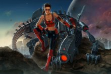 Home decoration science fiction mecha  artwork Silk Fabric Poster Print  AT107