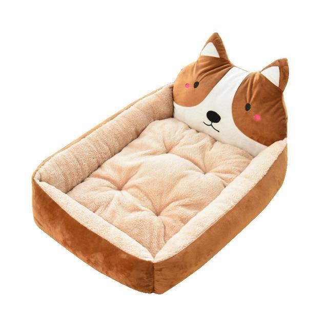 Lindo Tapete de Cama Do Cão Animal Dos Desenhos Animados Em Forma de Canis Sofá Espreguiçadeira Colchão Cão Macio Pet Dog House Bed Pad Cesta Grande suprimentos para animais de estimação