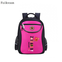 Foikvoon Cute Backpack Bags For Boy Casual Cartoon Breathable Kids Nylon Backpack Fashion School Bag Children