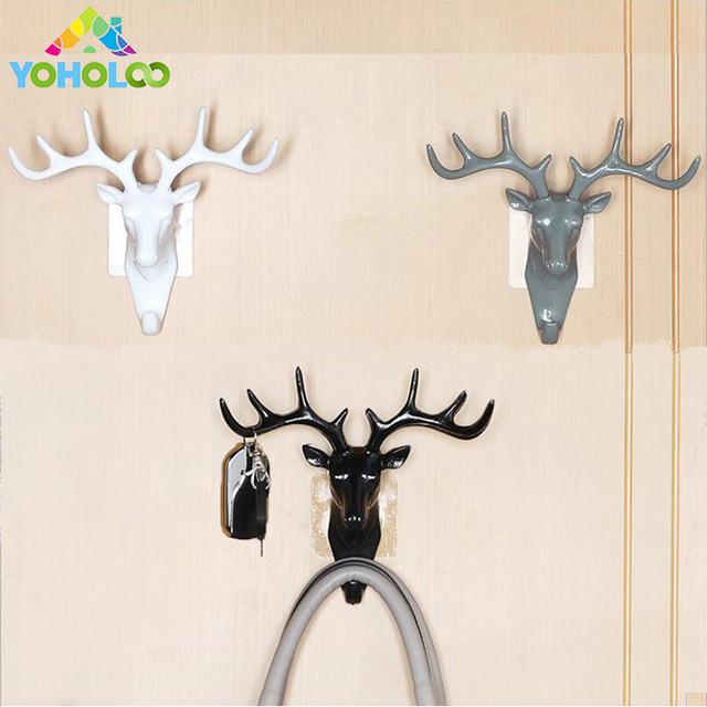 wall decor hooks antlers american style household decor hooks multi