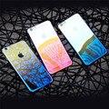 De baseus caso para iphone 6 originalidad lujo aurora de color degradado caso transparente para iphone 6 s plus claro cubierta dura de la pc casos