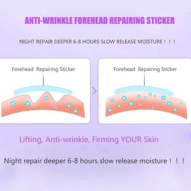 10 PCS Forehead Line Frown Lines Removal Anti-wrinkle Stickers Patch Moisturizing Repairing Anti-aging Forehead Lifting Mask 3