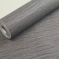 צבע אחיד בולט מרקם קיר נייר PVC מודרני אפור כהה רקע טלוויזיה ספה בסלון טפט רול ניירות קיר שולחן עבודה