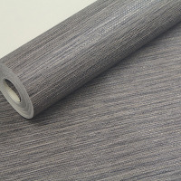 PVC Solid Color Embossed Textured Wall Paper Modern Dark Grey Living Room Sofa TV Background Wallpaper