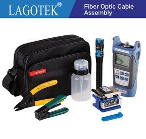 Image 1 - 12 sztuk/paczka FTTH zestaw narzędzi światłowodowych z FC 6S siekacz światłowodowy miernik mocy lokalizator uszkodzeń wizualnych z włókna szczypce do ściągania izolacji