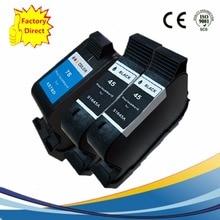 3 x Ink Cartridges For HP 45XL 78XL HP45XL HP78XL DeskJet 6127 930 9300 932 C 935 950 952 959 960 970 980 Cse Cxi Inkjet Printer