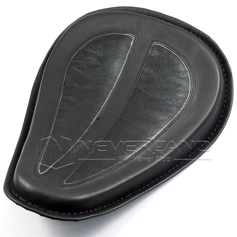 Neverland Motorcycle Black Leather Solo Seat Saddle For Harley Sportster 883 1200 XL 04-14 Motorbike Seat Covers D25
