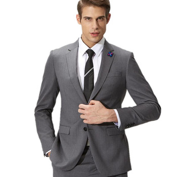 Formal men business suits two-piece high quality man groom suit two-piece elegant show thin man two-piece formal suit