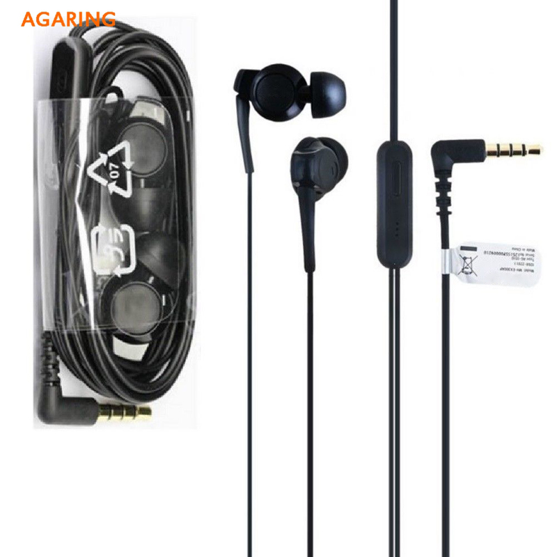 Original Headset earphone For Sony Xperia 1 XZ4 XZ3 H9493 Xperia 10 Plus Z6 In Ear Sports Wired Remote Control Earbuds Earpieces in Phone Earphones Headphones from Consumer Electronics