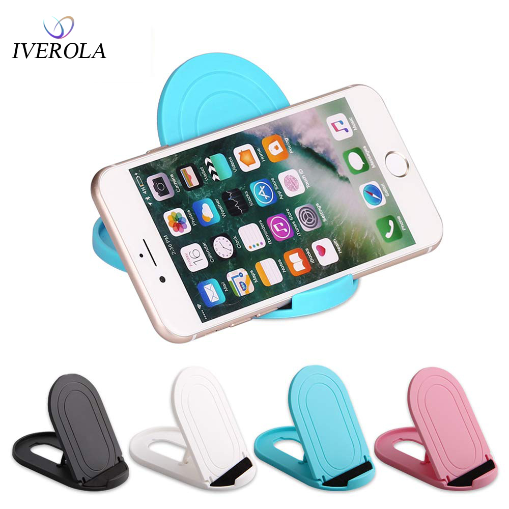 Univerola Cell Phone Stand Portable Foldable Cellphone Holder for Desk Accessories Mobile Adjustable Dock Desktop Stands