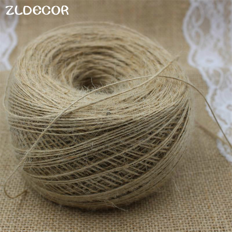 zldecor hp006 1mm thin rope natural jute twine cord diy