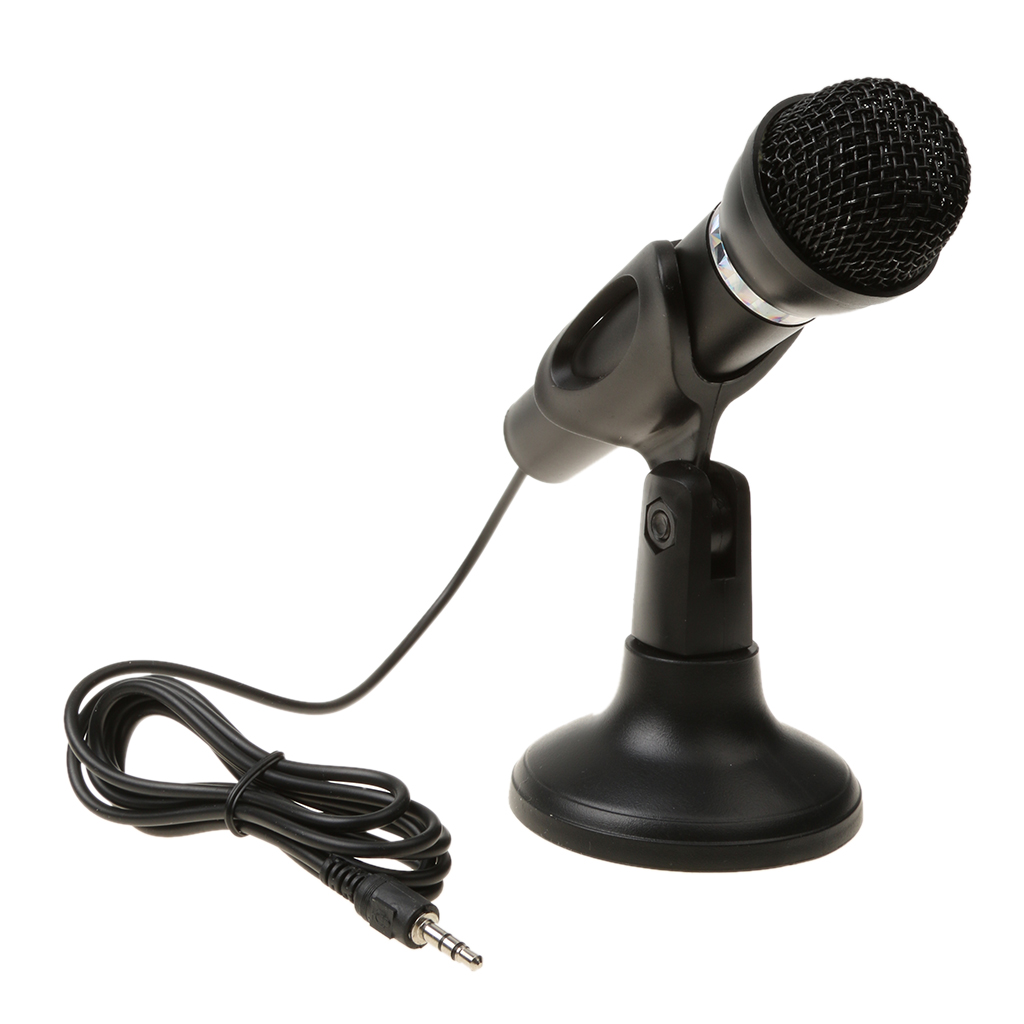 USB Camera for Skype Desktop MagiDeal 3.5mm Studio Microphone Mic w// Stand