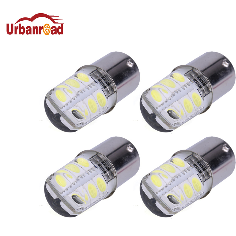 Urbanroad 4PCS 1156 P21W BA15S COB Led Car Light 1156 5050 Smd 12 Led Brake Turn Signal Light Bulb Crystal Lamps Led 12V White 2x 12v 24v auto car led light ba15s 1156 p21w led 50 smd 50smd high quality turn signal light bulb turn lamp white yellow red
