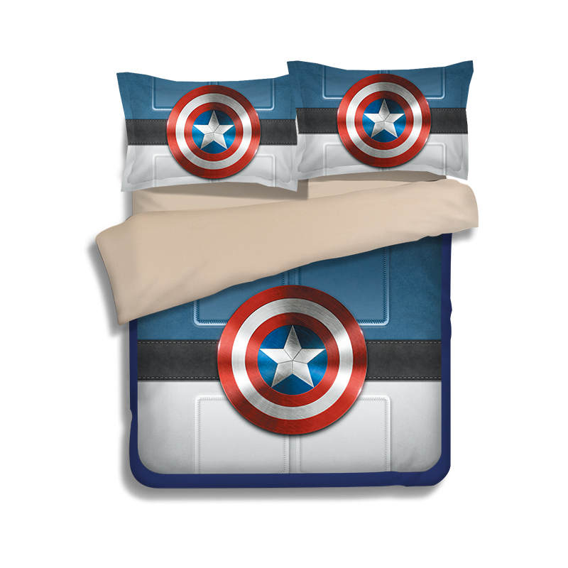 blue Captain America MOD 3D print bedding sets bedspread bed sheets Children's boy Adult duvet cover single full queen king size