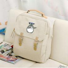 Холщовый рюкзак для ноутбука аниме каваи Тоторо мультфильм шаблон женские рюкзаки школьные сумки для подростков девочек