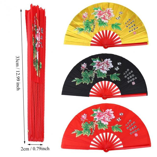 Fitness tai chi ventilador artes marciales kung fu taichi taiji Rendimiento dos dragones fans