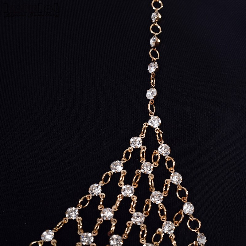 Imixlot Rhinestone Crystal Bikini Bra Top Chest Belly Tassel Chains  Crossover Harness Necklace Body Jewelry BAP0026-in Body Jewelry from Jewelry  ... e714699adeaf