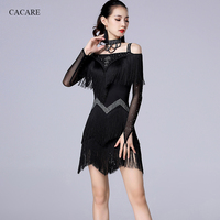 CACARE Latin Dance Dress NEW SALE Tassels Fringe Dress Latina Salsa Dance Costumes Flapper Tango 4 Choices D0703 Rhinestones