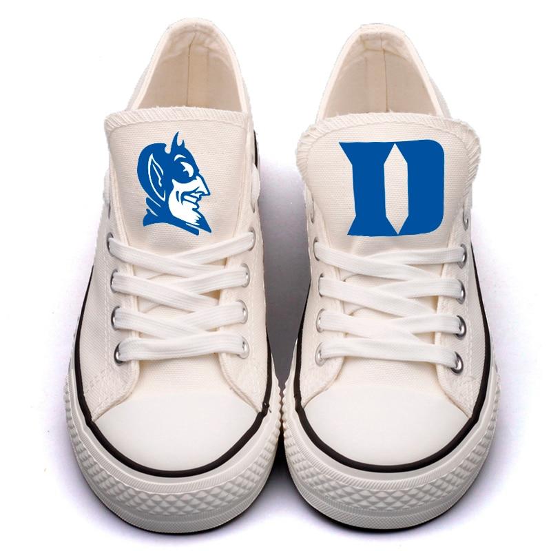 Casual Amérique 0000 Blanc Collège Toile Fans Pour Chaussures Les dkq21 Lacent Personnalisées Appartements Étudiants T Conception L'université Marque qOIw44