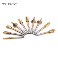 WALFRONT 10pcs/Lot Titanium Coated Chamfer Edge Mill Cutter Wood Countersink Drill Bits HSS Trimming Cutting Tools Slot Blade