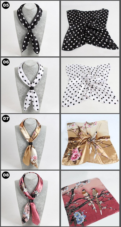 Trés beau foulards imitations soie 60x60 2