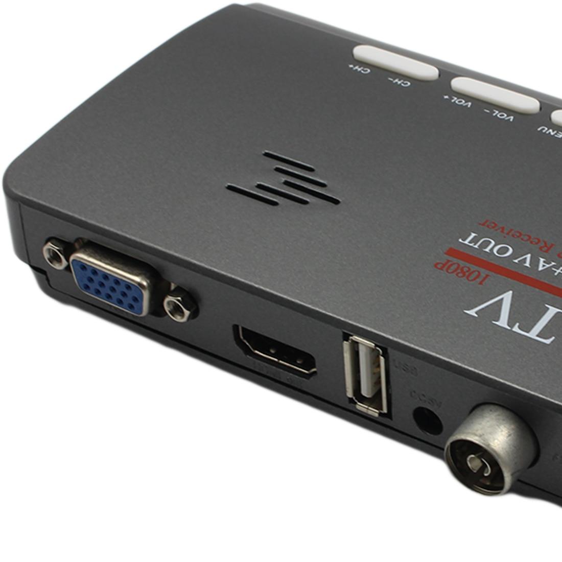 Reveiver Marsnaska DVB-T DVB-T2 Digitale Terrestre HDMI 1080 P DVB-T/T2 VGA CVBS AV Ricevente del Sintonizzatore TV Con Telecomando controllo