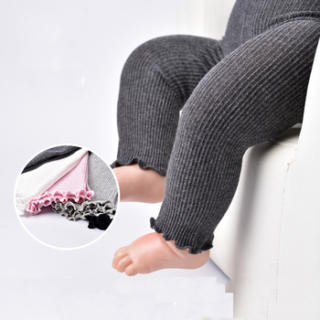 95% cotton high quality Baby pantyhose children Pants Boys girls strip knitted leggings  kids novelty casual leggings