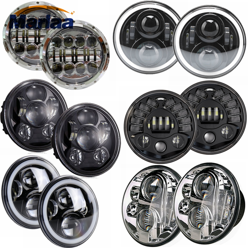 Hot Selling 2pcs 7 Inch Round Led Driving Light H4 LED Car Headlight Kit Auto for Jeep Led Head Lamp Bulbs High Beam & Low Beam