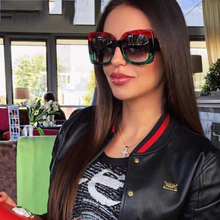 LVVKEE Arrival Women Square Luxury Sunglasses Oversize Uniqu