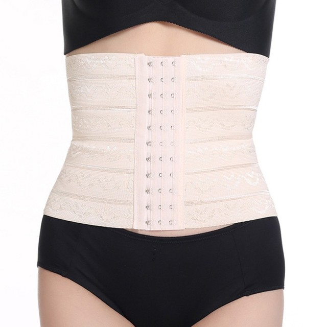 ddd649f25e3ff Beige Fitness Fat Burning Sexy Women Body Shaper Latex Rubber Waist Trainer  Cincher Underbust Corset Shapewear Y12