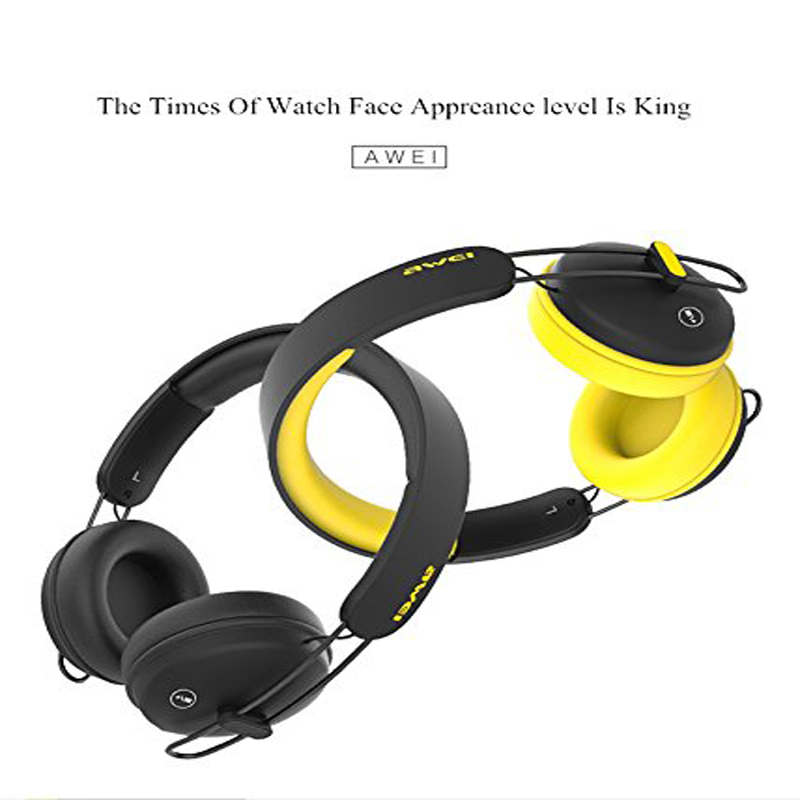 Original AWEI A800BL Bluetooth Headphones Headset Wireless Headphone Microphone Sports Control App For iOS Android