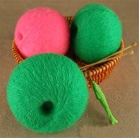Groothandel 250 g/partij Angola Mohair Wol Garen Voor Breien Kamgaren Milieuvriendelijke Geverfd Haak Garen wol garen pelote de laine nitki