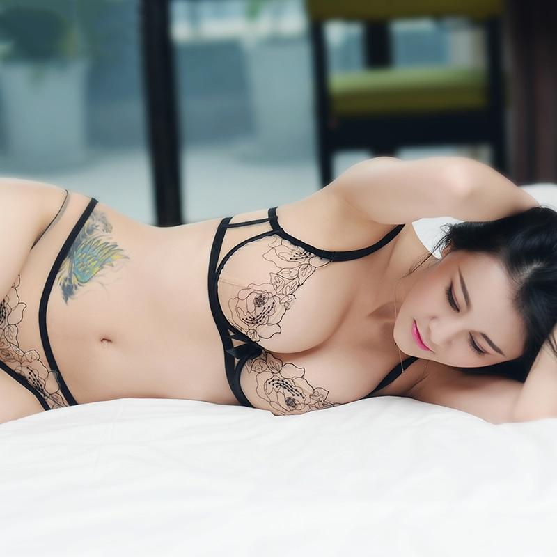 Shaonvmeiwu Ultra-dünne gaze sexy stickerei spitze bh dessous anzug komfortable perspektive atmungs kleine brust frauen bh
