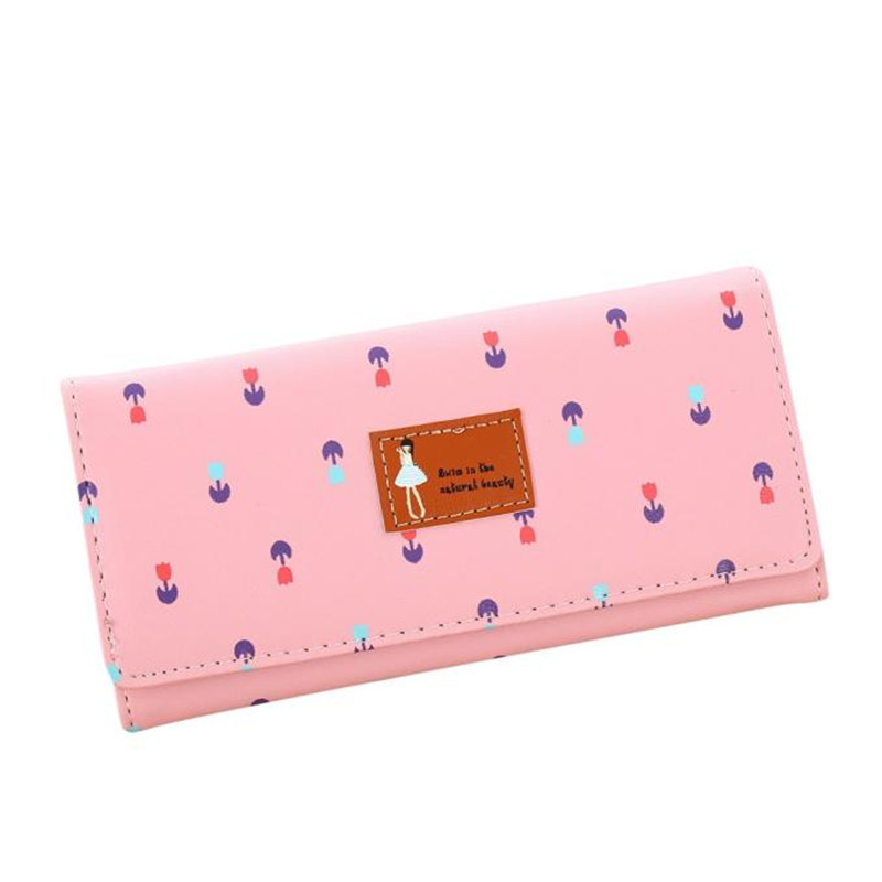 Hot Sale Clutches Wallets Fashion Women Floral Envelope Pattern Coin Purse Long Wallet Card Holders Handbag Portefeuille Femme купить
