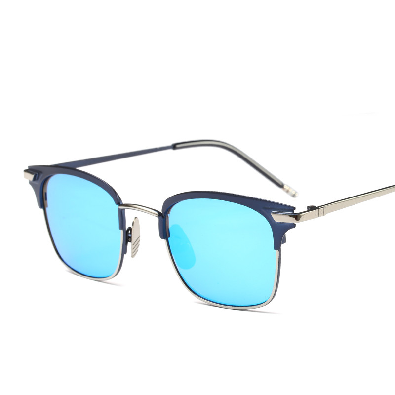 2018 Hot Sale Fashion square wrap Metal street shot retro Men women Sunglasses Vintage Brand star Designer uv400 PC-093