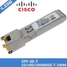 100% Novas vendas Compatível Para Cisco GLC GE T RJ45 SFP Módulo Ótico 10/100/1000BASE T RJ 45 Gigabit de Cobre 100 m