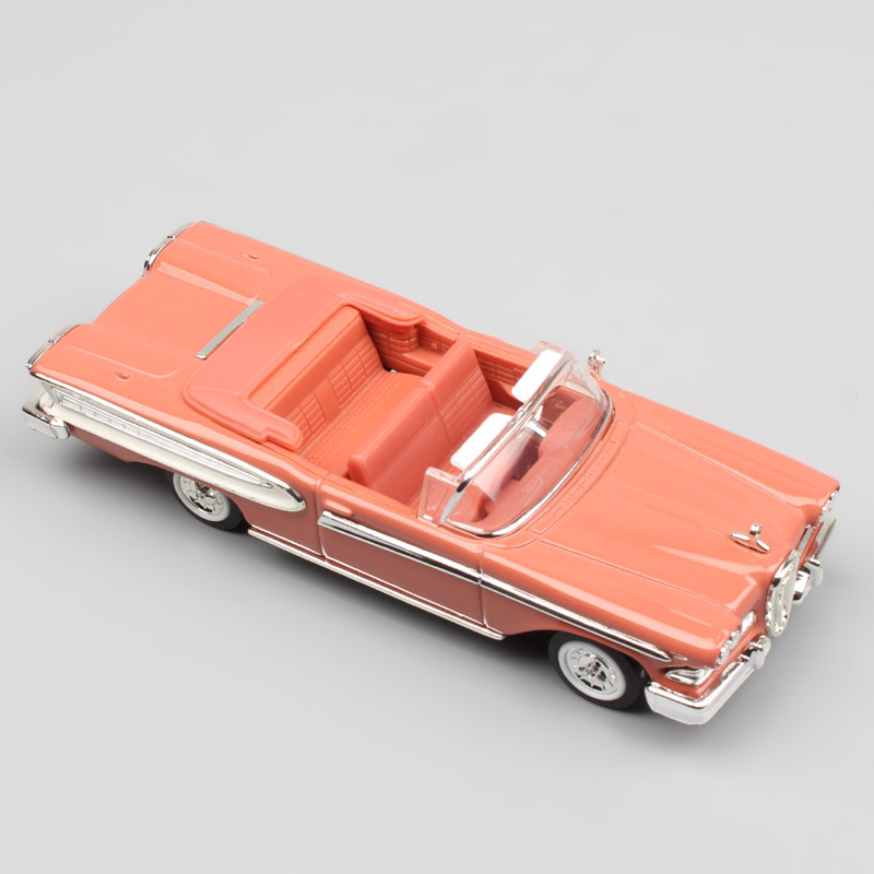 <font><b>1:43</b></font> Scale hot yat ming mini old <font><b>ford</b></font> 1958 Edsel Citation convertible Pacer cruiser die cast car <font><b>model</b></font> vehicle toy for collector image