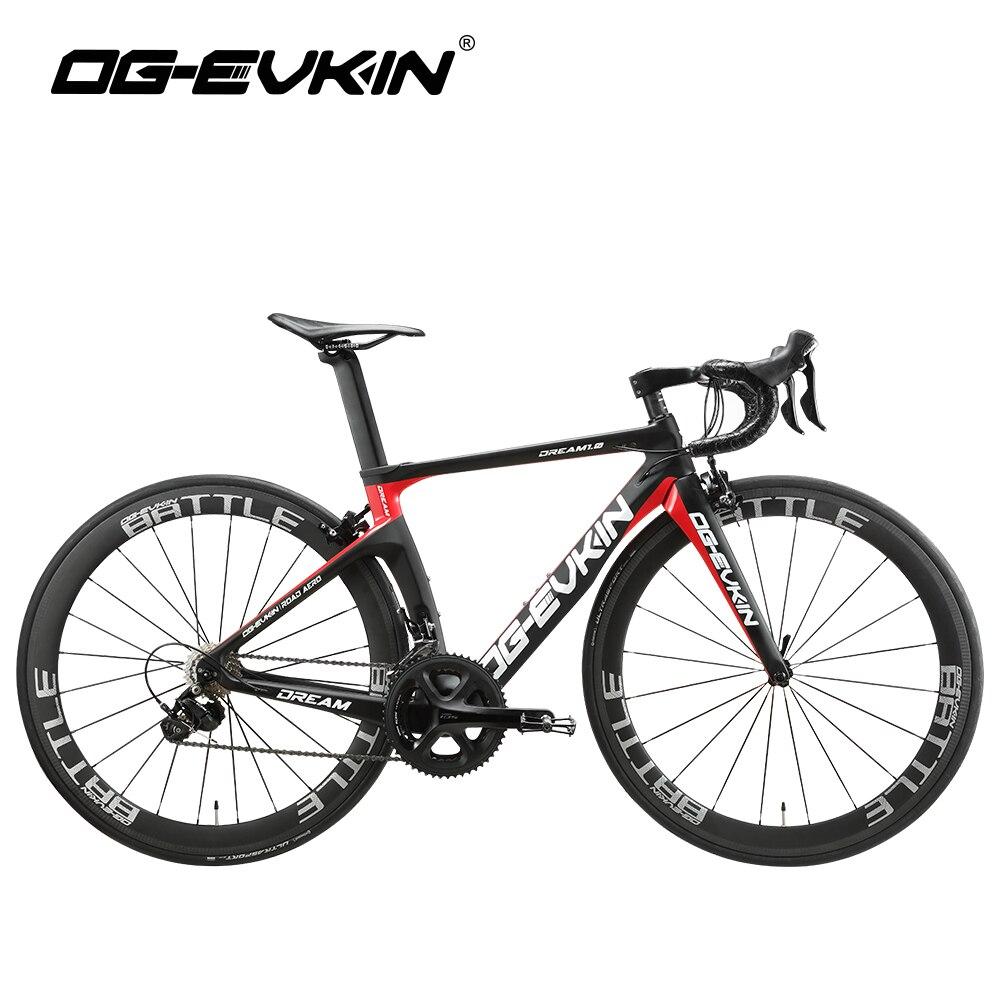 OG-EVKIN 2019 carbone complet vélo de course sur route vélos poids léger hommes/femmes 22 vitesses 700 CBICICLETA Ciclismo avec Shiman0 105