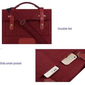 Image 4 - MOSISO 13.3 14 15 15.6 inch Felt Laptop Bag Case for Macbook Asus Dell HP Women Notebook Messenger Shoulder Handbag Briefcase Me