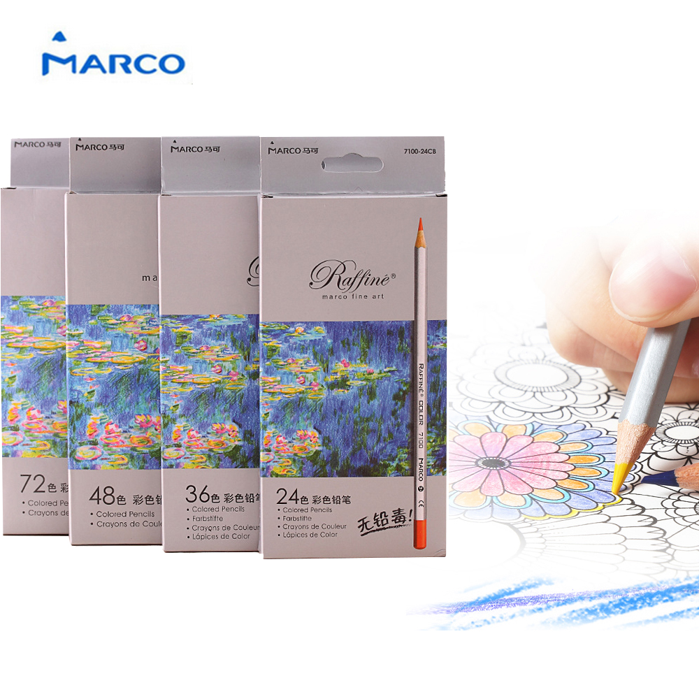 24/36/48/72 Color Fine Art Drawing Oil Base Non-toxic Colored Pencils Crayons Set For Artist Sketch 100% Brand New High Quality brand new fashion design fine art drawing oil base non toxic professional drawing pencils set 72 color for artist sketch