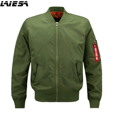LIESA Jackets Men Bomber Jacket Hip Hop Patch Designs Slim Fit Pilot Bomber Jacket Coat Men