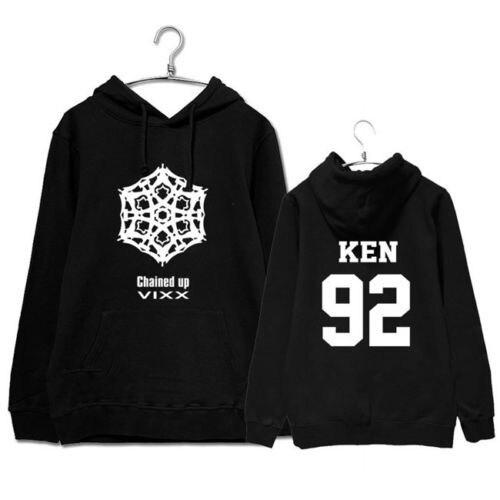 kpop VIXX KEN same fashion Print hoodies women Korea autumn winter hooded sweatshirts men streetwear Harajuku clothes pullovers